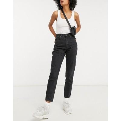 ドクターデニム レディース デニムパンツ ボトムス Dr Denim Nora high rise mom jeans in washed black