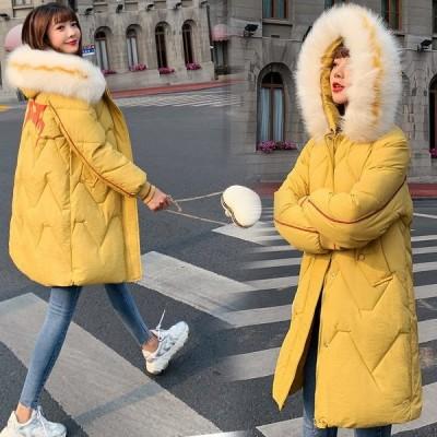 学生 中綿コート レディース ロングコート  韓流 厚手  ファー襟 冬季 ゆったりアウター アウター レディース2019 新品