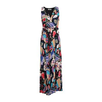 GRETHA Milano ロングワンピース&ドレス ブラック 42 ポリエステル 100% ロングワンピース&ドレス