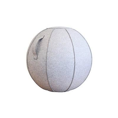 ショップジャパン バランスボール 65cm カバー付き ライトグレー BLNCBAML