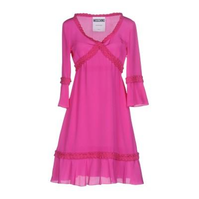 モスキーノ MOSCHINO ミニワンピース&ドレス ガーネット 42 シルク 100% ミニワンピース&ドレス