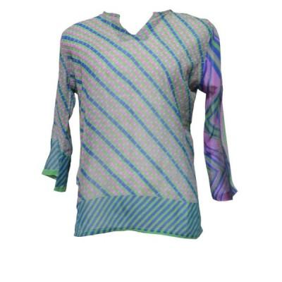 ブラウス アジアン衣料 ネパール・シルクブラウス29 クリックポスト選択 送料200円