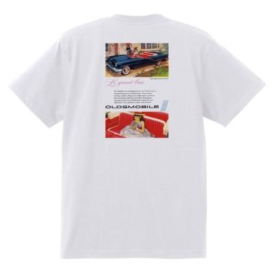 アドバタイジング オールズモビル 616 白 Tシャツ 黒地へ変更可  1957 ゴールデン ロケット 88 98 スーパー ホリデー ホットロッド ローライダー