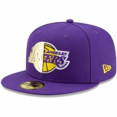 New Era ニュー エラ スポーツ用品  New Era Los Angeles Lakers Purple Split Metal & Thread 59FIFTY Fitted Hat