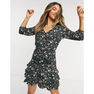 オアシス レディース ワンピース トップス Oasis printed dress in floral print