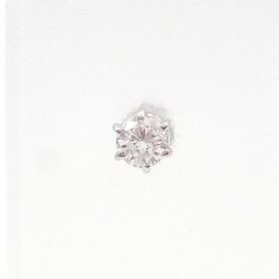 K18 18金 WG ホワイトゴールド ピアス(片耳) ダイヤ 0.15 中古ジュエリー