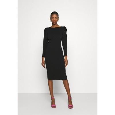 ドロシーパーキンス ワンピース レディース トップス RUCHED SLEEVE BODYCON DRESS - Shift dress - black