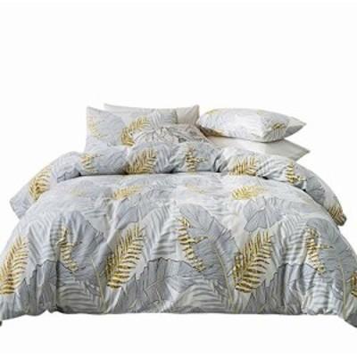 ROADSWIN 布団カバー 4点セット 寝具カバー セット セミダブル ベッド用 布団用 掛け布団カバー 花柄 北欧 肌に優しい