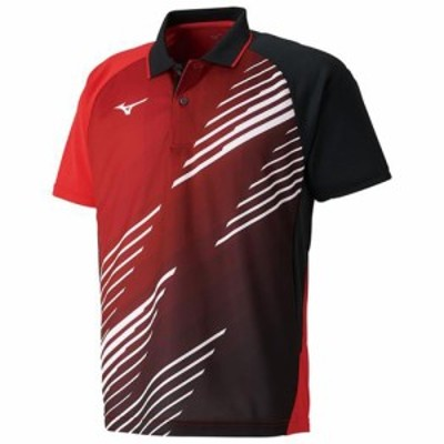 ミズノ 82JA900762S 卓球用ゲームシャツ(ユニセックス)(チャイニーズレッド・サイズ:S)MIZUNO 82JA9007[82JA900762S] 返品種別A
