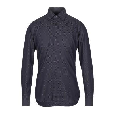 CARLO PIGNATELLI シャツ ダークパープル 38 コットン 100% シャツ