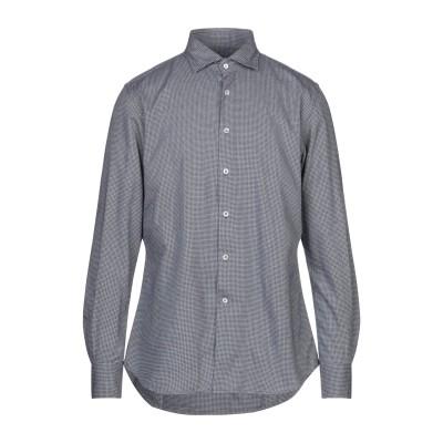 グランシャツ GLANSHIRT シャツ ダークブルー 40 コットン 100% シャツ