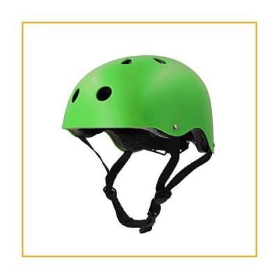 Tourdarson Skateboard Helmet Protection Sport for Scooter Skate Skateboarding Cycling (Green, Small)【並行輸入品】