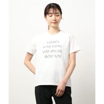 tシャツ Tシャツ 【SOMETHING】【WEB限定】プリントロゴTシャツ