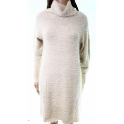 Angie アンジー ファッション ドレス Angie NEW White Ivory Womens Size Large L Turtleneck Sweater Dress