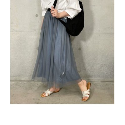 割繊×チュール リバーシブルスカート