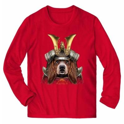 【バセットハウンド ドッグ 犬 いぬ 将軍 日本 JAPAN】メンズ 長袖 Tシャツ by Fox Republic