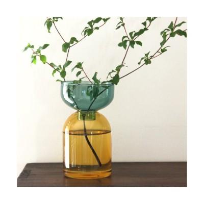 amabro TWO TONE VASE フラワーベース ガラス 花瓶 アマブロ