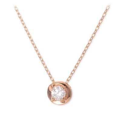ピンクゴールド ネックレス ダイヤモンド 彼女 誕生日プレゼント 記念日 ギフトラッピング ウィスプ 送料無料 レディース