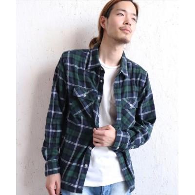 BAYBLO / ビエラネルチェックシャツ(BG) MEN トップス > シャツ/ブラウス