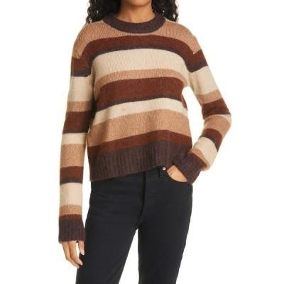 バウムウンドヘルガーデン レディース ニット&セーター アウター Stripe Wool Blend Sweater Camel Multi Stripe