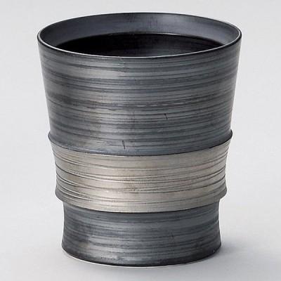 業務用食器 銀彩ワビカップ(有田焼) 8.5×9.5cm 日本酒・焼酎グラス