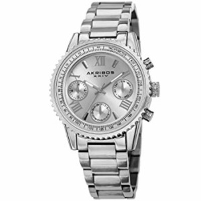 Akribos XXIV Multifunction Everyday Women's Watch - 3 Subdials, Month Date, Week Date and 24 Hr Functions Complication On Stainl