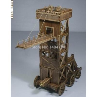 【税込】 古代 中世 戦車 ローマ軍 クラシック戦車 モデルシリーズ 木製模型キット 英語説明書【領収発行可】