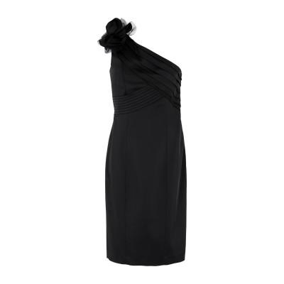 MISS MAX ミニワンピース&ドレス ブラック 46 ポリエステル 97% / ポリウレタン 3% ミニワンピース&ドレス