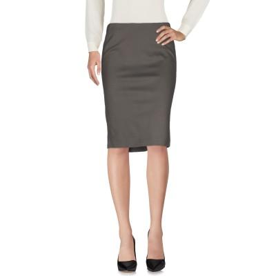 エンポリオ アルマーニ EMPORIO ARMANI ひざ丈スカート グレー 36 レーヨン 65% / ナイロン 30% / ポリウレタン 5%