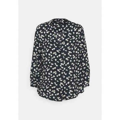 セレクテッドフェム シャツ レディース トップス SLFPOLINE  - Long sleeved top - dark sapphire/white