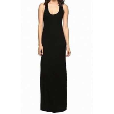 Lanston  ファッション ドレス Lanston NEW Black Womens Size Small S Stretch Scoop Neck Maxi Dress