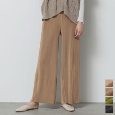 [低身長向けSサイズ対応][高身長向けMサイズ対応]マットプリーツリラックスパンツ レディース ボトムス パンツ イージーパンツ