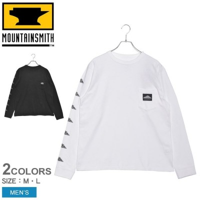 (ポイント5%) マウンテンスミス スウェット メンズ DTR クルーネック長袖Tシャツ MOUNTAIN SMITH MS0-000-200021 ブラック 黒 ホワイト 白 冬
