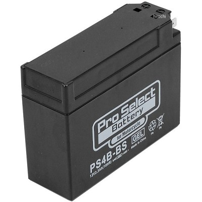 PSB003 プロセレクト PROSELECT バイク用 バッテリー ジェルタイプ PS4B-BS YT4B-BS、GT4B-5互換 (液入充電済) HD店