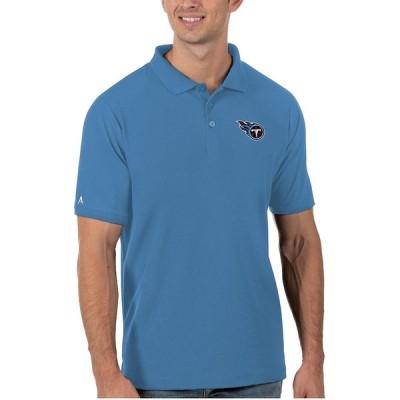 """メンズ ポロシャツ """"Tennessee Titans"""" Antigua Legacy Pique Polo - Light Blue"""