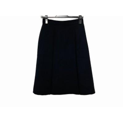 フォクシー FOXEY スカート サイズ38 M レディース 美品 - 37114 黒 ひざ丈【中古】20201120
