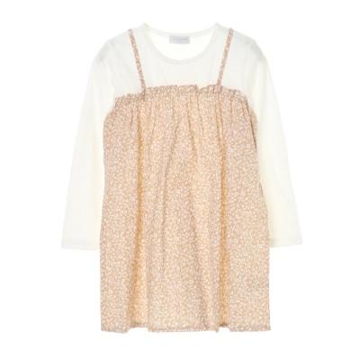 【kids】■レイヤード風長袖ワンピース