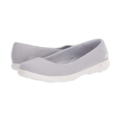 SKECHERS Performance スケッチャーズ レディース 女性用 シューズ 靴 フラット Go Walk Lite - Gray