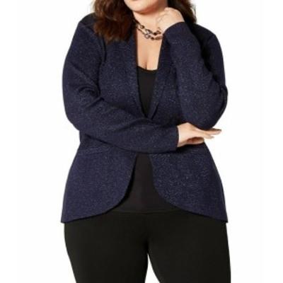 ファッション 衣類 Belldini NEW Blue Womens Size Small PS Petite Glitter Open Jacket
