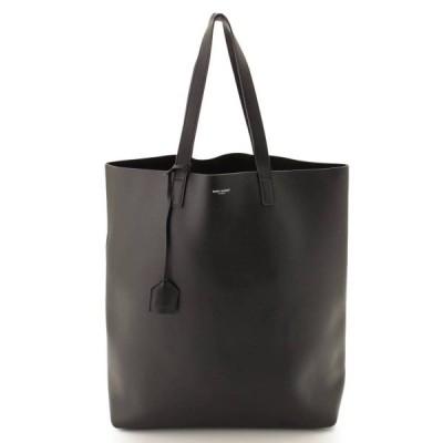 【サンローラン】SAINTLAURENT ショッピング トートバッグ 396906 ブラック 【中古】【正規品保証】85693