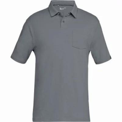 アンダーアーマー ポロシャツ Charged Cotton Scramble Polo Shirts Zinc Gray/Zinc Gray