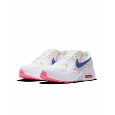 ナイキ レディース スニーカー シューズ Women's Air Max Excee Casual Sneakers from Finish Line White Pink Indigo Green