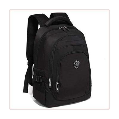 Color Backpack-Large-Capacity Shoulder Bag Computer Bag Student Schoolbag Korean Version Tide Campus (Color : Black)
