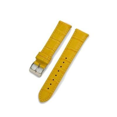 CASSIS[カシス] カーフ 型押し 時計ベルト 裏面防水素材 AVALLON アバロン 20mm イエロー 交換用工具付き X10222