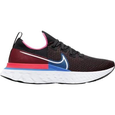 ナイキ メンズ スニーカー Nike React Infinity Run Flyknit ランニングシューズ Black/White/Red Orbit/Photo Blue