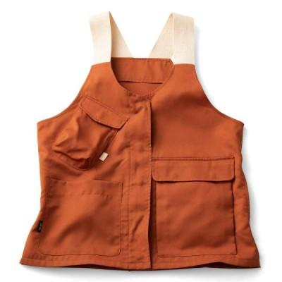 フェリシモ UP.de 着られるバッグで身軽にお出かけ マルチポケットベスト〈オレンジ〉