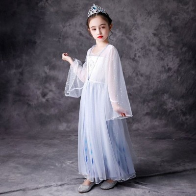 子供ドレス アナと雪の女王 エルサ アナ ワンピース 女の子 コスプレ衣装cosplay ピアノ 発表会 演奏会 フォーマル 入園式 結婚式