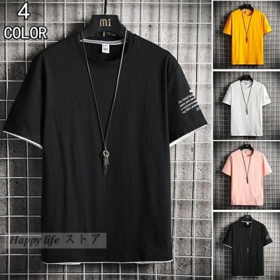 Tシャツ メンズ 半袖Tシャツ クルーネックTシャツ カットソー 夏服 サマー コットンTシャツ お兄系