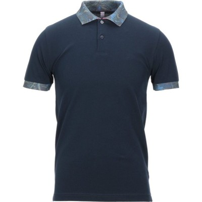 サン シックスティーエイト SUN 68 メンズ ポロシャツ トップス Polo Shirt Dark blue