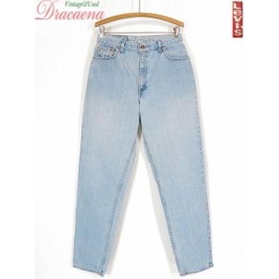 古着 レディース パンツ USA製 Levi's リーバイス 550 アイス ブルー デニム テーパード パンツ ジーンズ W29 L31 古着